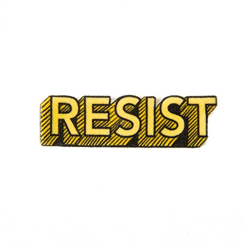 Resist Enamel Lapel Pin in Yellow for Protestors and Activists