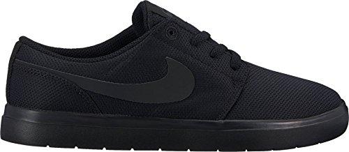 innovative design bdc25 2d78b Nike Kids Portmore II Ultralight (GS) Black Black Anthracite Skate Shoe 4.5