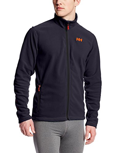 Helly Hansen Men's Daybreaker Lightweight Full Zip Fleece Jacket, 994 Graphite Blue, (All Mountain Graphite Skis)