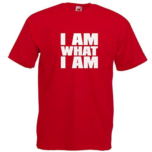 I am what i am T-Shirt Rot / Druck Weiß