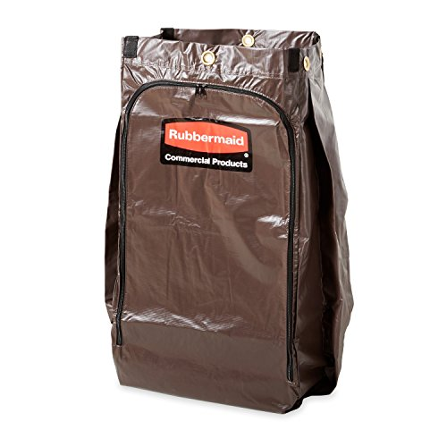 Rubbermaid Commercial Zippered Vinyl Bag for Rubbermaid Carts, Brown, FG619300BRN (Rubbermaid Recycle Bag Wastebasket)