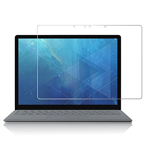 J&D Compatible for 1-Pack Surface Laptop Glass Screen Protector, [Tempered Glass] [Not Full Coverage] Ballistic Glass Screen Protector for Microsoft Surface Laptop (Release in 2017) Screen Protector