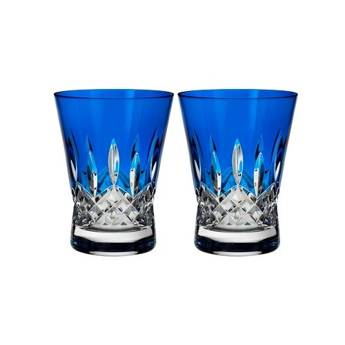 Waterford Set of 2 Lismore Pops Double Old Fashioned Glasses