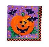"Halloween Party Napkins - Jack O'Lantern & Bats"" 20 cnt"