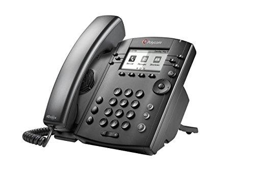 Polycom VVX300 Series Business Media Desktop Phone, PoE (2200-46135-025) Power Supply Not Included