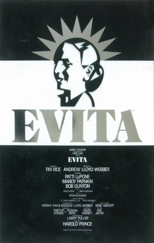 Evita Poster Broadway Theater Play B Bob Gunton Patti LuPone Mandy Patinkin Terri Klausner