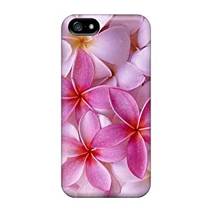 Tpu Case Cover Compatible For Iphone 5/5s/ Hot Case/ Pink Spring Flowers