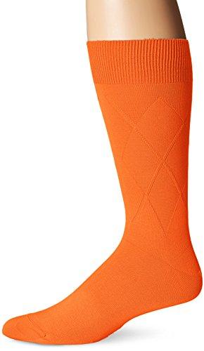 BUGATCHI Men's Daulton Solid Sock,tangerine,Sozk size:10-13/Shoe Size:6-12