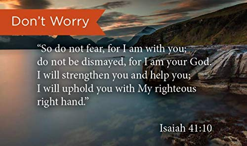 Pass Along Pocket Scripture Cards, Do Not Fear, Isaiah 41:10, Pack of 25