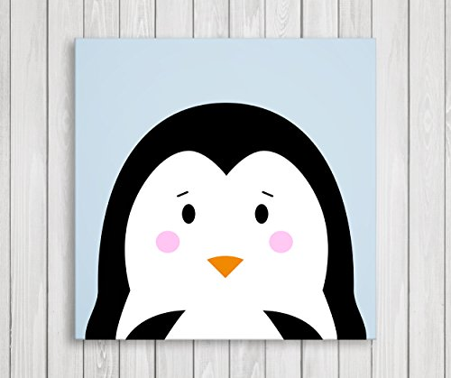 Cute Little Animals Nursery Wall Decor, Baby Room Canvas Art (11