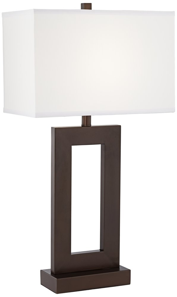 Marshall Open Window Bronze Table Lamp