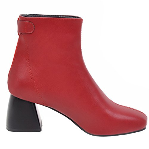 AIYOUMEI Red Boot Women's AIYOUMEI Women's Classic TqwYPX7