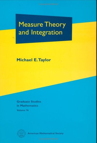 Measure Theory and Integration (Graduate Studies in Mathematics)