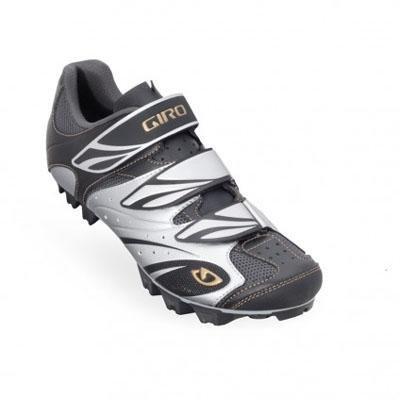Giro Riela Cycling / Spin Schuh (vormals bekannt als Reva) - Frauen Schwarz / Silber / Gold