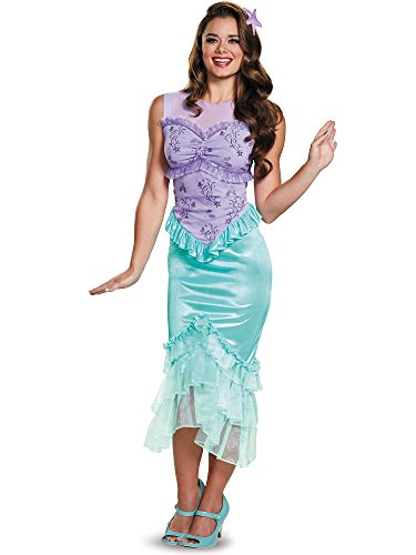Disguise Ariel Tween Disney Princess The Little Mermaid Costume, X-Large/14-16 (Girls Tween Halloween Costumes)