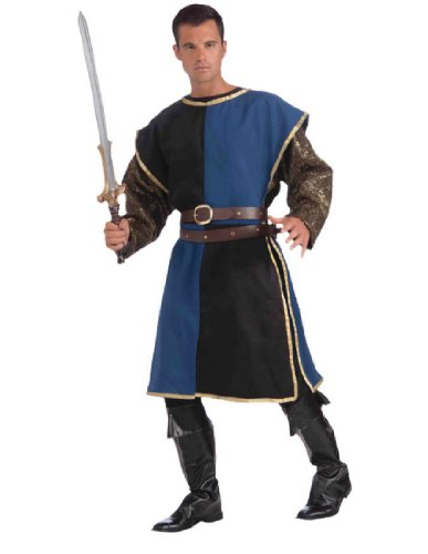 Blue Medieval Knight Costumes (Medieval Tabard Adult Costume Blue - Standard)