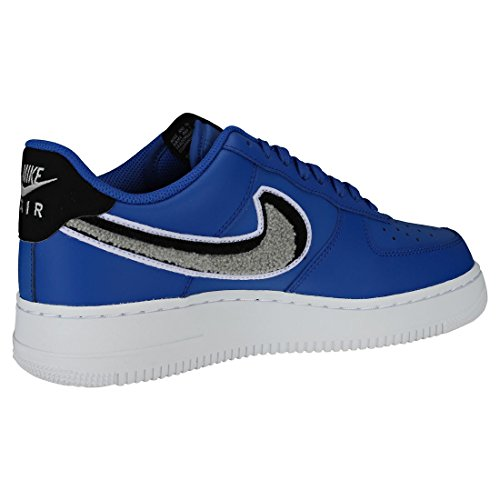 Nike Men's Air Force 1 '07 Lv8 Gymnastics Shoes, Bianco Gold (Game Royal/Wolf Grey/Black/Whi 409)