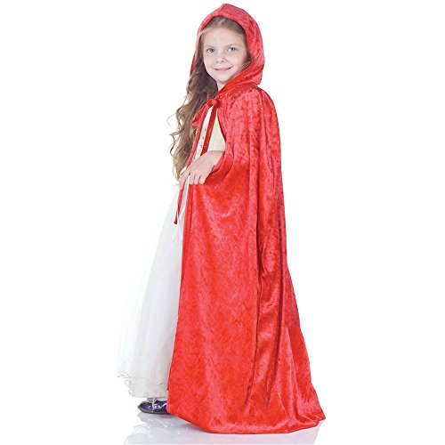 Red Panne Kids Cape - One Size