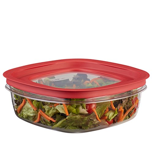 - Rubbermaid Premier Easy Find Lids Food Storage Containers, 9 Cup, Racer Red FG7H78TRCHILI