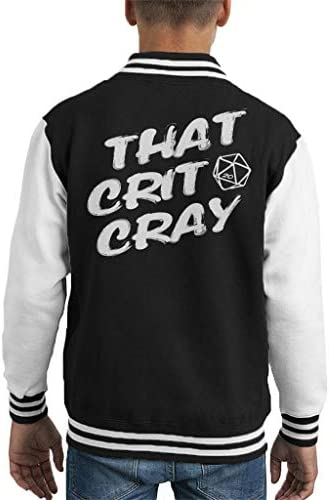 Cloud City 7 That Crit Cray Dungeons and Dragons Kid's Varsity Jacket