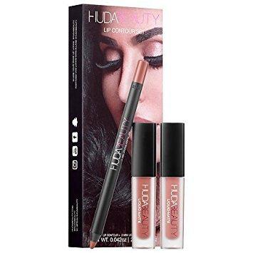Huda Beauty Lip Contour Set - Trendsetter (brown nude) & Bombshell (subtle pinkish nude)
