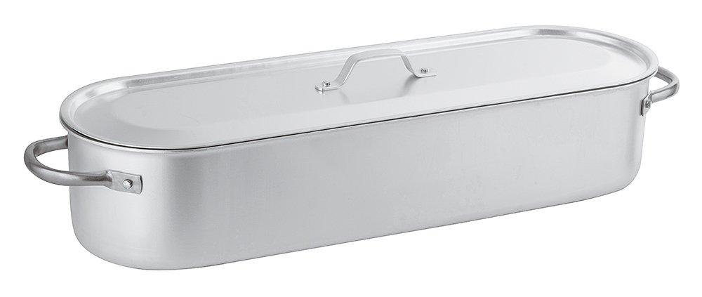 PADERNO 16939-60 Pesciera con Griglia Coperchio Alluminio 60 cm
