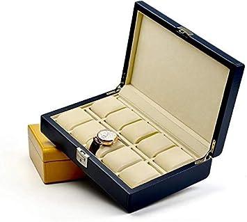 LQH Caja Decorativa joyería Armario de Cuero de la PU del Reloj ...