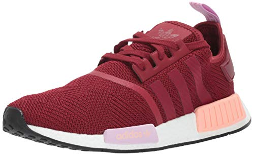 adidas Originals Women's NMD_R1, Burgundy/Clear Orange, 7.5 M US