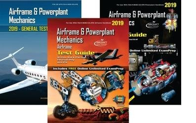 Airframe and Powerplant Mechanics Set of Three (3) 8083-ATB Test Guides