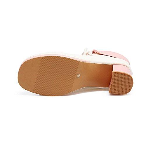 ABL10017 BalaMasa Fashion nbsp;Color Boots Assorted Pink Platform Womens Urethane qq0AH