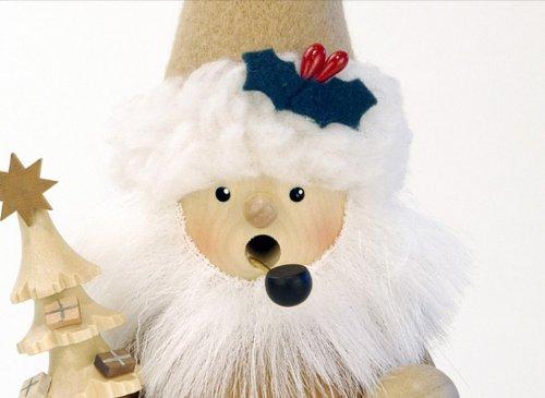 German Incense Smoker Santa Claus natural - 19cm / 7 inch - Christian Ulbricht by Authentic German Erzgebirge Handcraft