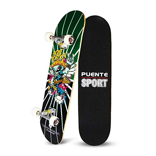 Checker Complete Skateboard - YF YOUFU Skateboard Complete, 31 Inch Pro Skateboards, Tricks Skate Board for Beginners- 7 Layer Canadian Maple Wood Double Kick Concave Skateboards