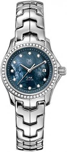 Tag Heuer Link Womens Blue Mother of Pearl Dial Stainless Steel Diamond Watch WJF131G.BA0572