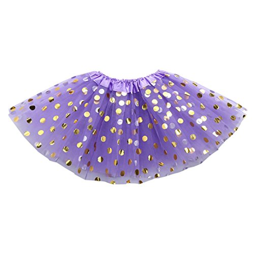 Inkach Baby Girls Tutu Skirt - Toddler Polka Dots Printed Ballet Skirts Fluffy Tulle Petticoat Dress (F) Dot Petticoat