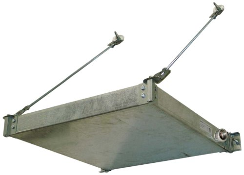 Holdrite QuickStand 50-SWHP-WM Wall Mounted Suspended Water Heater Platform with Drain Pan and 1-Inch Metal Drain Fitting, 26-1/2-Inch by 26-1/2-Inch -