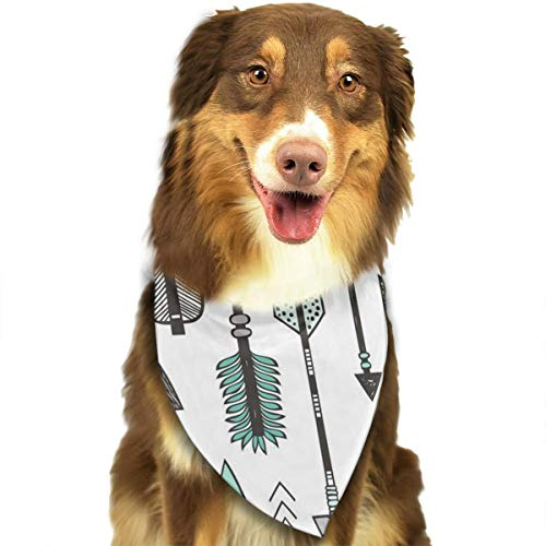 ZZJIAK Dog Bandana Scarf Peppermint Green Arrowhead Triangle Bibs Printing Kerchief Set Accessories Dogs Cats -