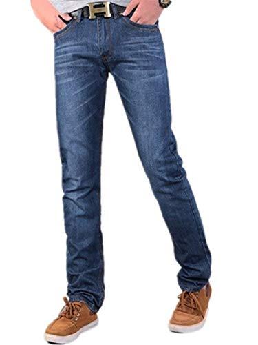 Jeans Uomo Pantaloni Bluejeans Chino Blu Skinny Regular Fit Casual Hrenjeans Retro Stretch Dritti Denim Di Base Strappati Blau-a6