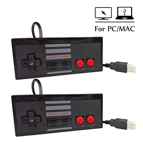 Mekela 5.8 feet Classic USB Wired Controller Gamepad resembles NES for Windows PC MAC (Black2 Black2)