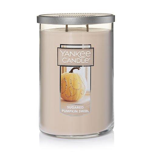 Yankee Candles Sugared Pumpkin Swirl Large 2-Wick Tumbler Candle,Food & Spice -