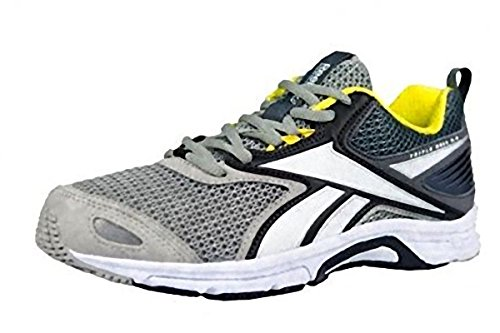 Reebok Triplehall 5.0 Zapatillas de running, Mujer Gris / Negro / Blanco / Amarillo (Tin Grey / Shark / Coal / White / Sil / Yellow Spa)