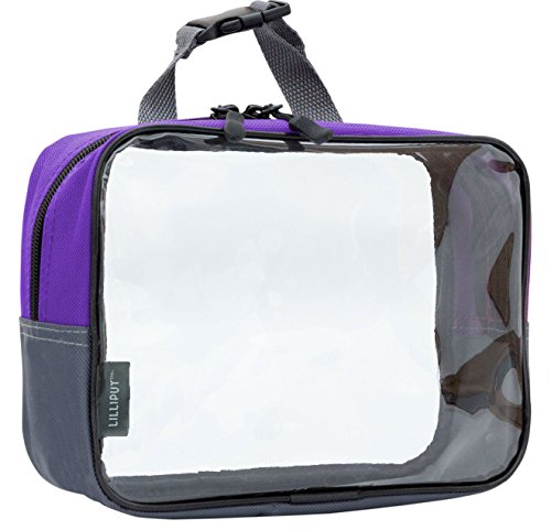 Clear Travel Toiletry Bag, TSA 3-1-1 Cosmetic Bag, Quart Sized Packing Organizer Tsa Quart Bag
