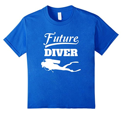 Kids Future Diver T-Shirt Scuba Diving Tee For Kids 6 Royal Blue