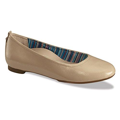 Aetrex Kvinners Erica Ballet Flat Naken Patent