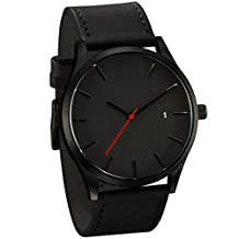 LsvtrUS Popular Low-key Men's Quartz Wristwatch Minimalist Connotation Leather Watch