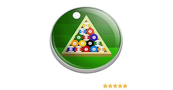 Graphics and More Billar Bolas y triángulo Mesa de Piscina Golfing Premium Metal Golf Ball Marcador: Amazon.es: Deportes y aire libre