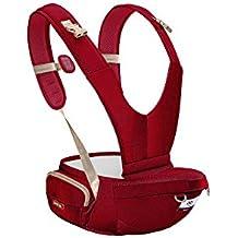 [Patrocinado] beibijia ergonómico Baby Hipseat Carrier, la cadera Sling lado Carrier para recién nacido y el niño en 2018, Rojo