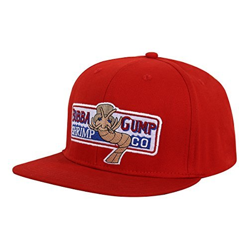 KVCOS Original Forrest Gump Cap Bubba Gump Shrimp Co Costume Cosplay Leisure Baseball Hat (Red)