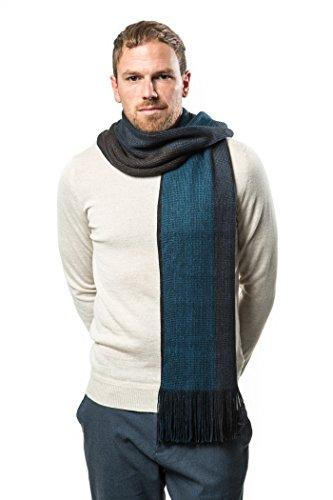Knit Fashion Scarf - Mens Scarf, Knit Striped Scarf, Winter Fashion Scarf In An Elegant Gift Box