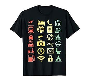 Amazon.com: Retro Traveler Icon Translator - Camiseta para ...