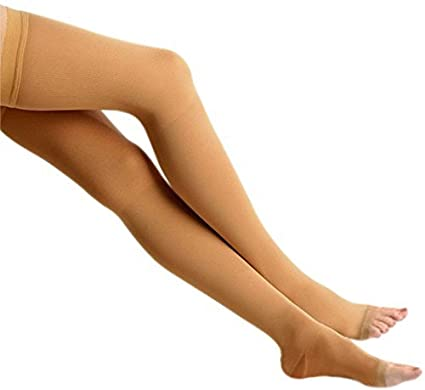 c9dbacc322 Buy Dyna Medical Compression Stockings for Varicose Vein ! With Graduated  Compression (Above Knee-Large, Type: Beige-Class 1) Online at Low Prices in  India ...